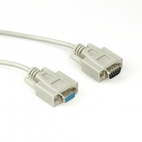 Câble RS232C droit DB9 femelle / DB9 mâle